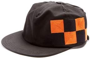 Off-White Checker-embroidered cotton-canvas cap