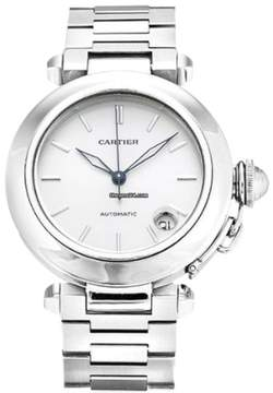 Cartier Pasha C W31010M7 Stainless Steel 35mm Mens Watch