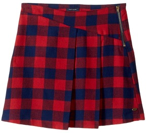 Tommy Hilfiger Plaid Zipper Skirt Girl's Skirt