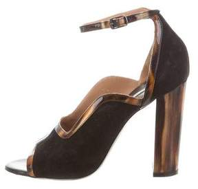 Dries Van Noten Suede Ankle-Strap Pumps