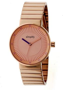 Simplify The 4600 SIM4604 Rose Gold Stainless Steel Analog Watch