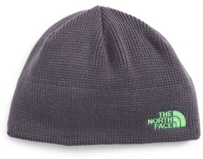 The North Face Boy's Youth Bones Fleece Lined Beanie - Grey