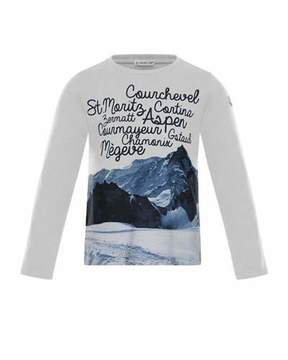 Moncler Maglia Long-Sleeve Graphic T-Shirt, Size 4-6