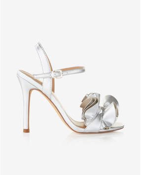 Express ruffle heeled sandals