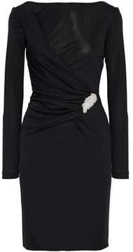 Emilio Pucci Wrap-Effect Appliquéd Gathered Jersey Dress
