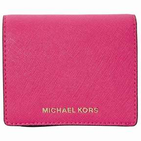 Michael Kors Jet Set Travel Saffiano Leather Card Holder - Ultra Pink - ONE COLOR - STYLE