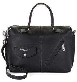 Marc Jacobs The Edge Leather Satchel Bag - MUSHROOM - STYLE
