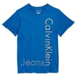 Calvin Klein Jeans Boy's V-Neck Logo Tee