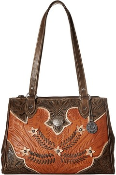 American West Desert Wildflower Large 3 Compartment Shopper Handbags