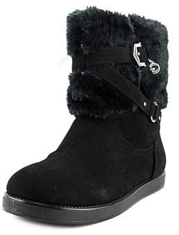 G by Guess Alixa Women Round Toe Faux Fur Black Winter Boot.