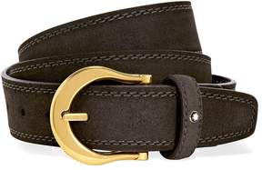 Montblanc Dark Brown Suede Belt