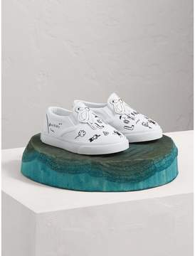 Burberry Doodle Print Slip-on Trainers