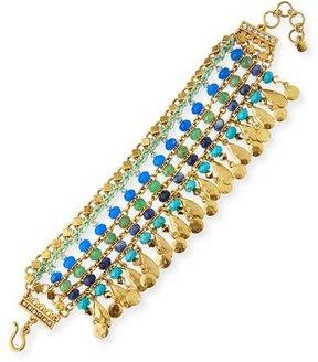 Sequin Semiprecious Beaded Statement Bracelet