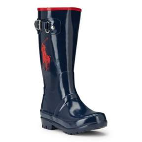 Ralph Lauren Ralph Rain Boot Navy/Red 13