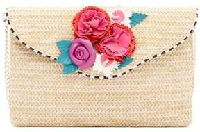 Betsey Johnson Gypsy Rose Straw Clutch