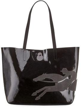 Longchamp Shop-It Medium Patent Leather Tote Bag