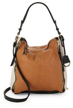 Jessica Simpson Baylinn Colorblocked Faux Leather Hobo Bag