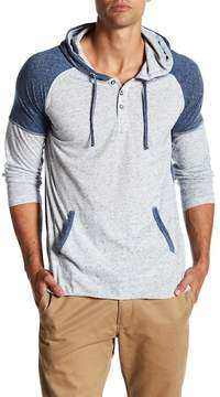 Burnside Long Sleeve Colorblock Henley Hoodie