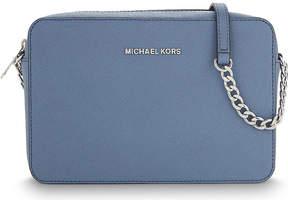 MICHAEL Michael Kors Jet Set Travel leather cross-body bag - BLUE - STYLE