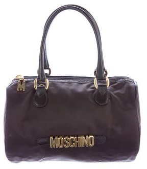 Moschino Leather-Trimmed Handle Bag