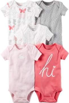 Carter's Baby Girls 5-pk. Sweetheart Bodysuits