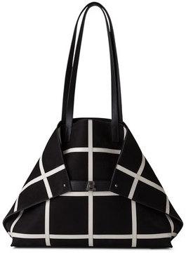 Akris Ai Medium Plaid Reversible Shoulder Bag