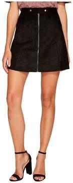 Bishop + Young Suede Zip-Up A-line Skirt Women's Skirt