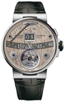 Ulysse Nardin Marine Grand Deck Hand Crafted Wood Marquetry Dial Men's Hand Wound Watch