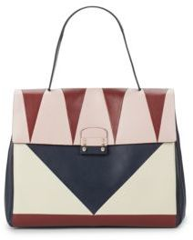Leather Multicolor Top Handle Bag