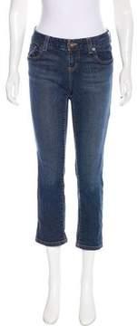 DKNY Straight-Leg Mid-Rise Jeans