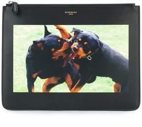 Givenchy rottweiler print pouch