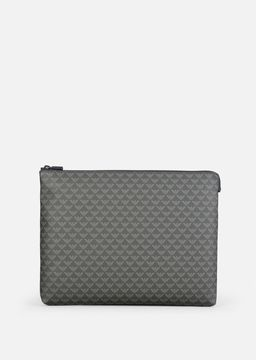 Emporio Armani all-over logo print pvc and nylon bag