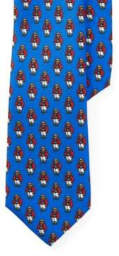 Polo Ralph Lauren Bear Silk Tie Royal/Red One Size