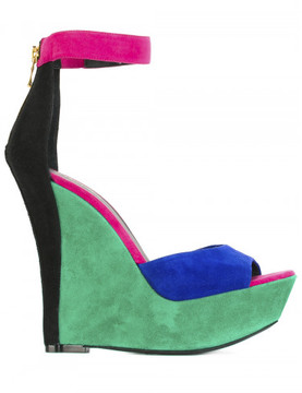 Balmain multicolor high sandals