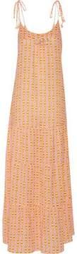Figue Brielle Embellished Printed Cotton-Blend Gauze Maxi Dress