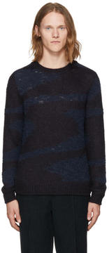 Missoni Navy Marble Crewneck Sweater