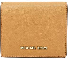 Michael Kors Jet Set Travel Saffiano Leather Card Holder - Acorn - ACORN - STYLE