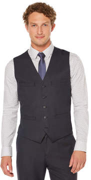 Perry Ellis Mini Check Machine Washable Suit Vest