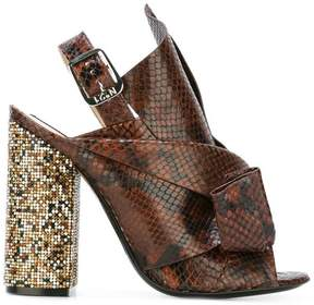 No.21 snakeskin effect sandals