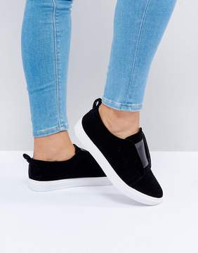 Head Over Heels by Dune Velvet Sneakers