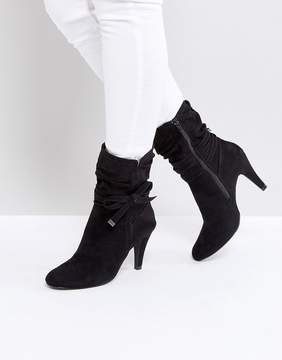 Head Over Heels Rayna Black Heeled Ankle Boots