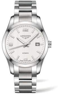 Longines Conquest Classic Stainless Steel Watch