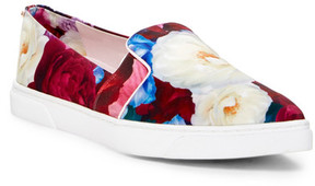 Ted Baker Thfia Pointed Toe Floral Print Slip-On Sneaker
