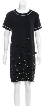 Edward Achour Embellished Mini Dress