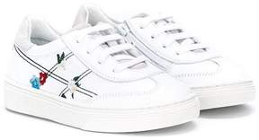 Hogan embroidered lace-up sneakers