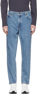 Pyer Moss Blue Vintage High-Waisted Straight Jeans