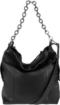 Kooba Black Dante Leather Hobo Bag