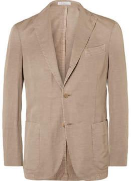 Boglioli Brown Slub Cotton And Linen-Blend Suit Jacket