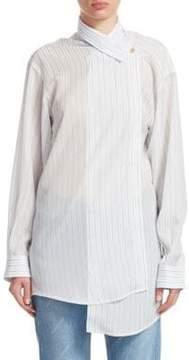 Balenciaga Fluid Stripe Button-Front Shirt