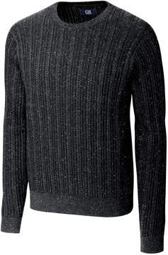 Cutter & Buck Gray Carlton Cable-Knit Crewneck Sweater - Men